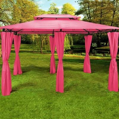 Zahradní altán pavilon Deuba TOPAS 4x3m - růžová