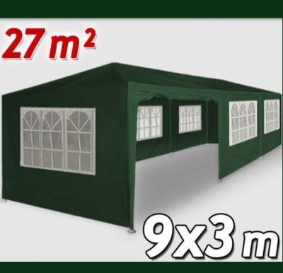 Altánok Pavilón DE45 XXL 9x3m zelena